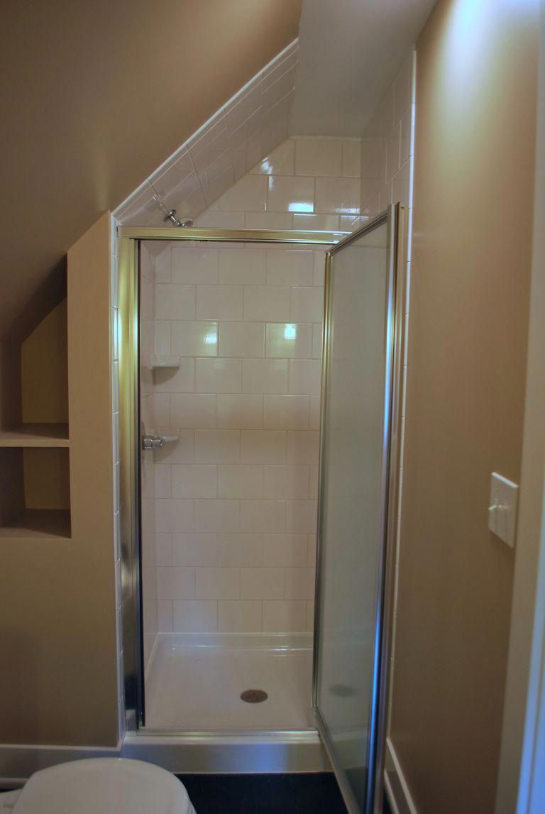 Turn Your Attic Into The Bathroom Of Your Dreams Today Attic Shower Small Attic Bathroom Attic Bathroom
