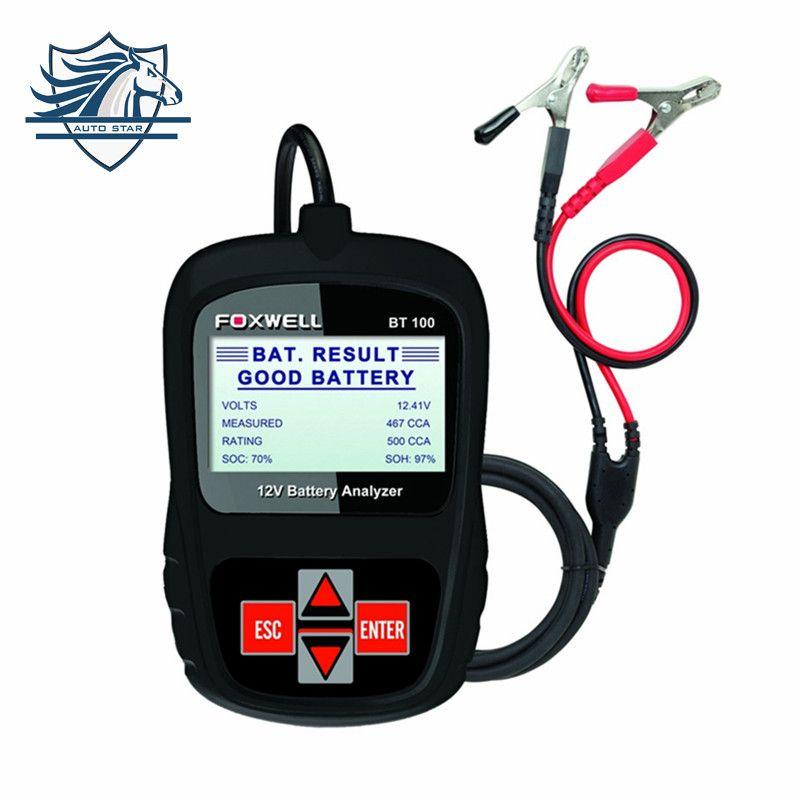 Hot Sale Original FOXWELL BT100 12V Car Battery Tester for