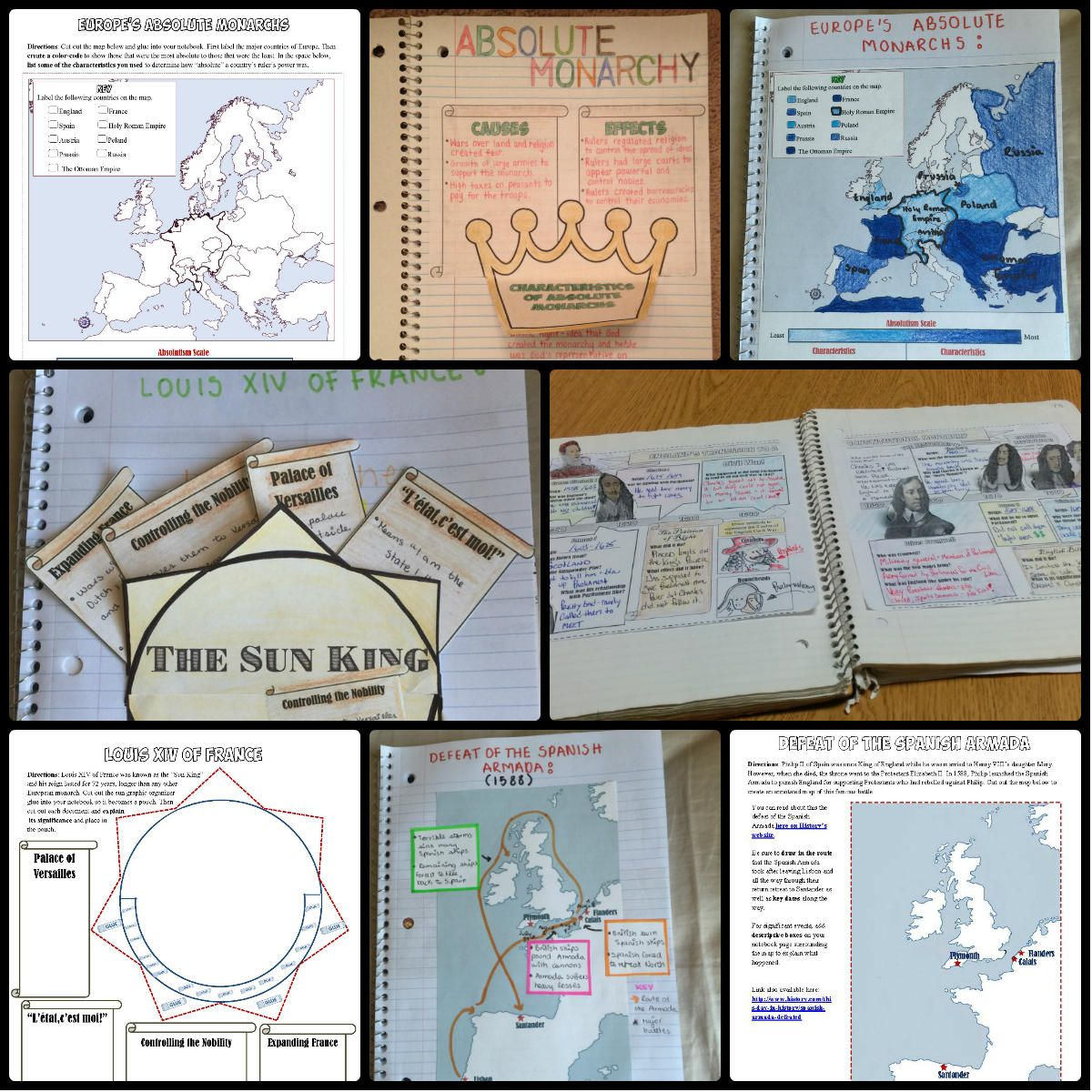 Absolute Monarchs And Enlightenment Interactive Notebook History Interactive Notebook Interactive Notebooks World History Classroom