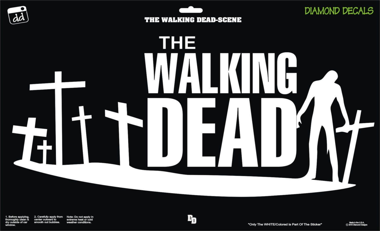 The Walking Dead Zombie Land Cross Decal Sticker Car Laptop Suv Window Diamond Decals Car Stickers Decals Stickers [ jpg ]