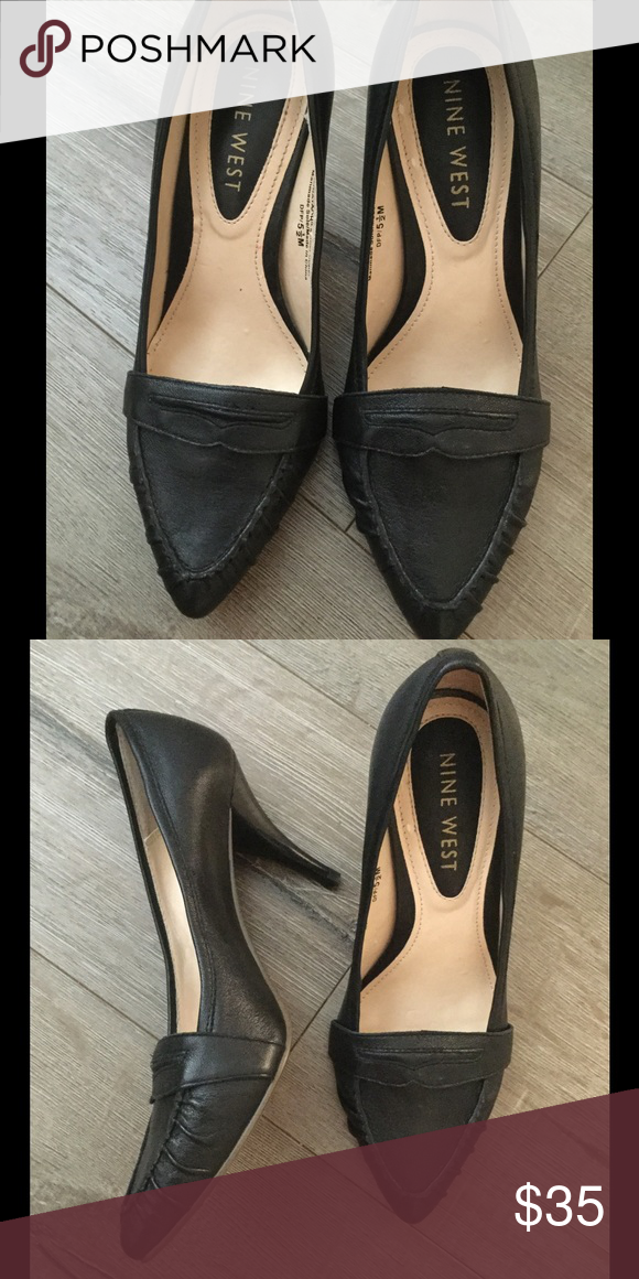 New Nine West Leather heels New condition Nine West leather black heels super cute and classy Nine West Shoes Heels