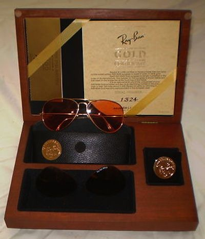 0446468ac9 18KT Gold Bausch and Lomb $2,225.00 Ray Ban Gold, Gold Sunglasses, Vintage  Men,