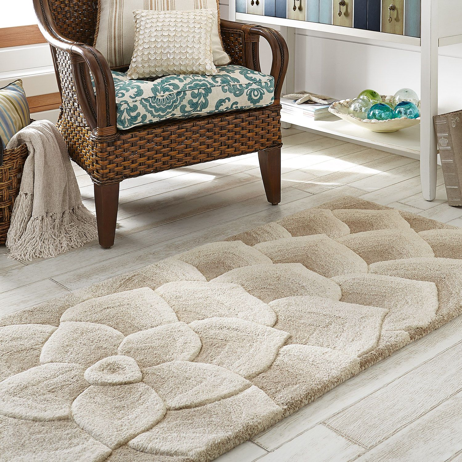 Rose Tufted Rugs Ivory Pier 1