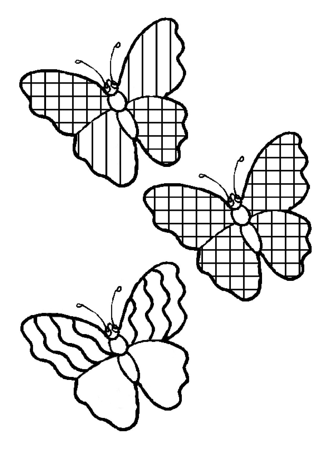 Modele De Fluturasi De Colorat Fise De Lucru Gradinita