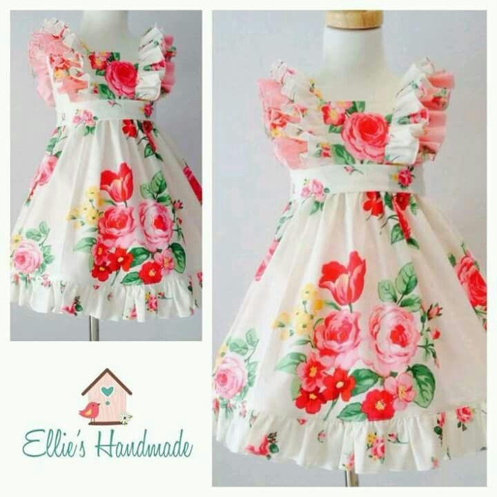 Flower dress | vestido niña | Pinterest | Vestidos niña, Vestidos de ...