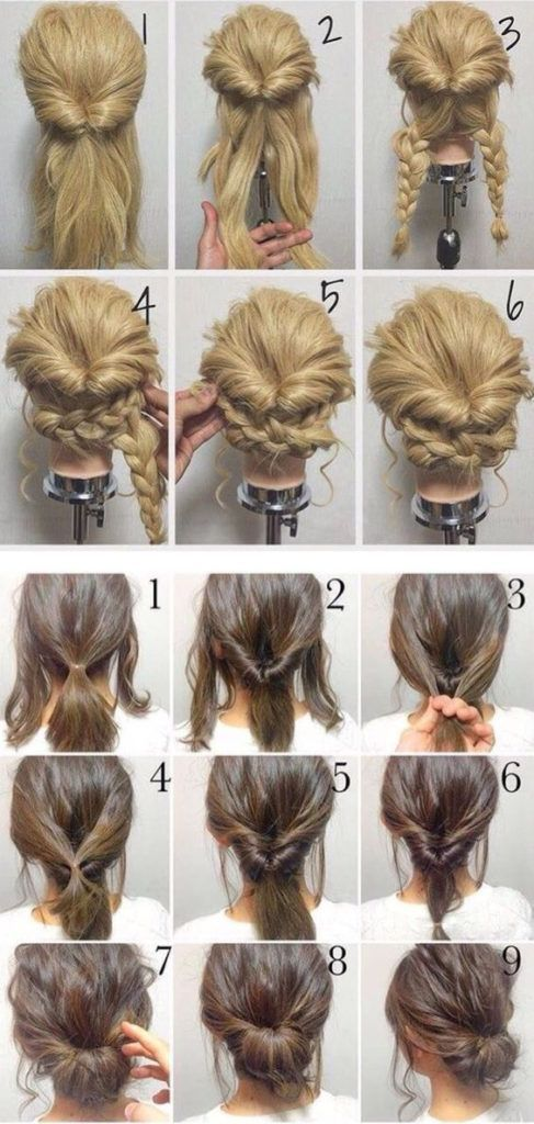 170 Simple Hairstyles Step by Step Hairstyling lets you stand out from the crowd – Make Up Tips