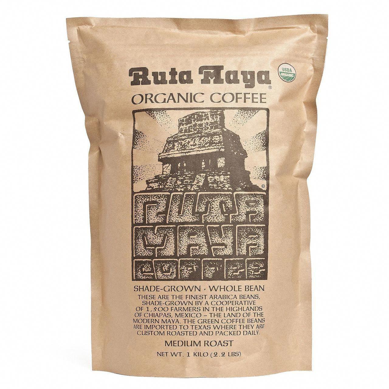 Ruta Maya Organic Coffee Bean Medium Roast, 2.2 lbs