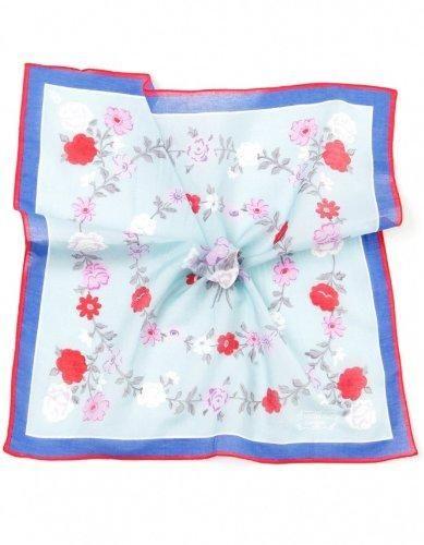 Penrose Men's Hyde Floral Handkerchief OS LT BLUE Hyde handkerchief. Floral ring pattern. Rolled edge border. Made in Italy. Silk: 80% silk, 20% cotton.  #Penrose #Apparel