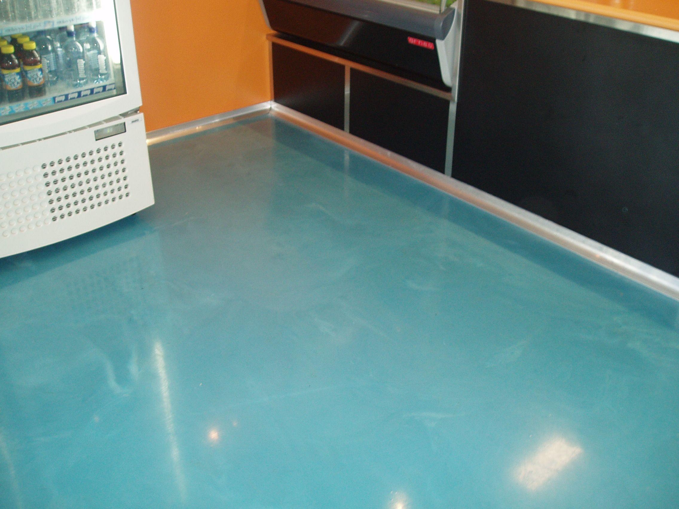 Light Blue Floors Created By Sexy Floors Epoxy Floors