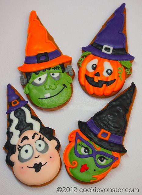 Cookievonster 2012 - Halloween 2012 Pinterest Frank frank - halloween pumpkin cookies decorating