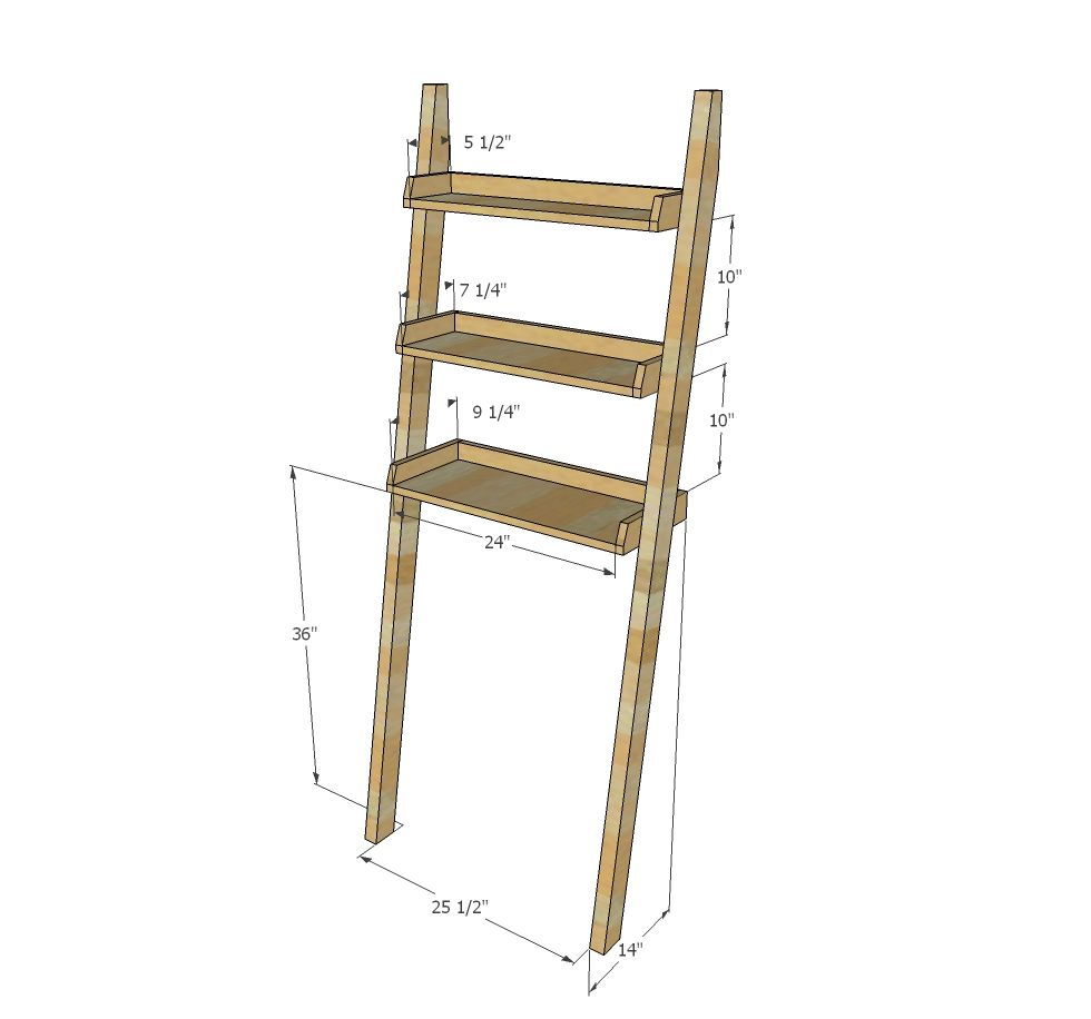 Over the Toilet Storage – Leaning Bathroom Ladder