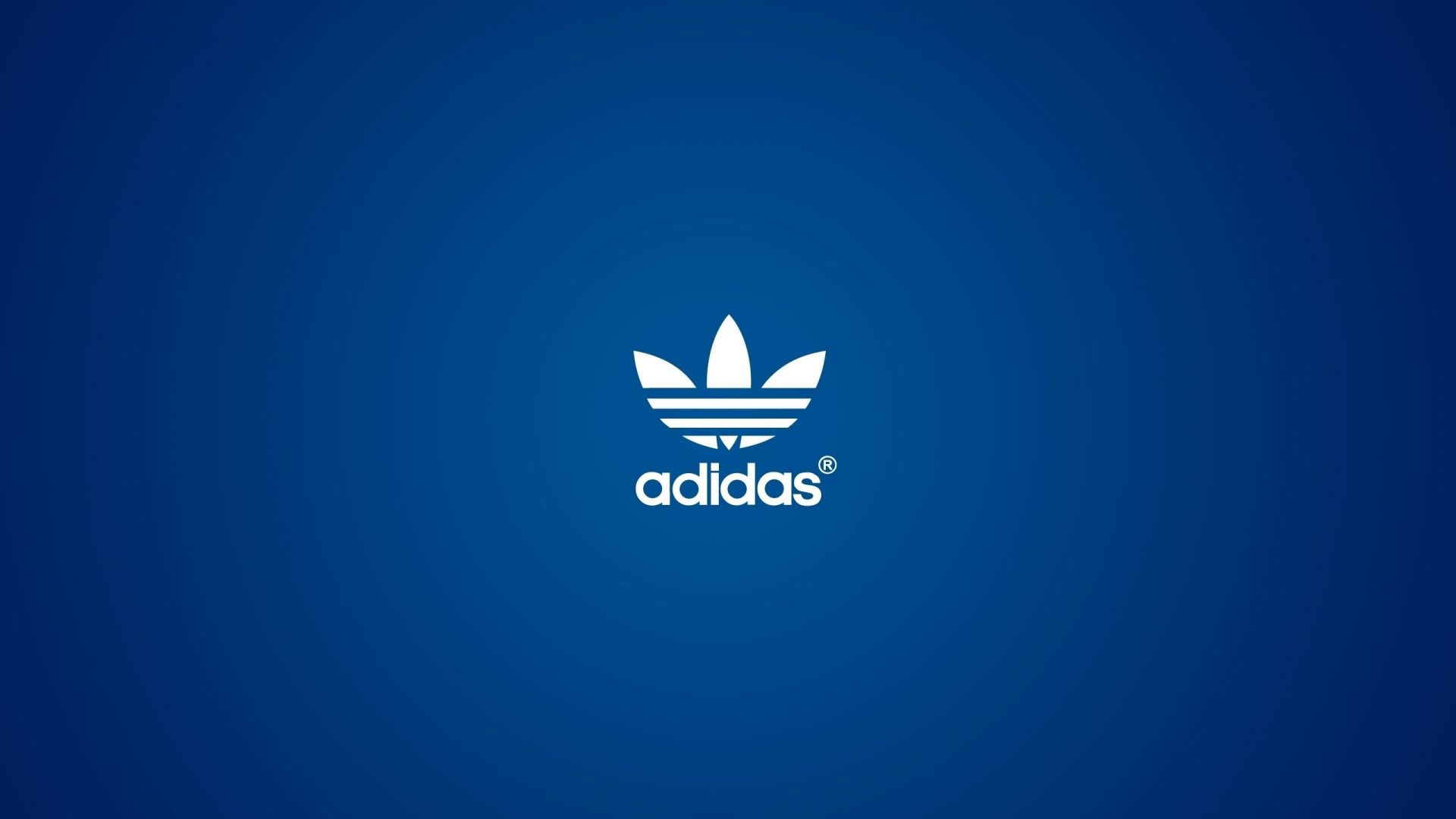 Simple Design Adidas White Logo And Blue Background HD