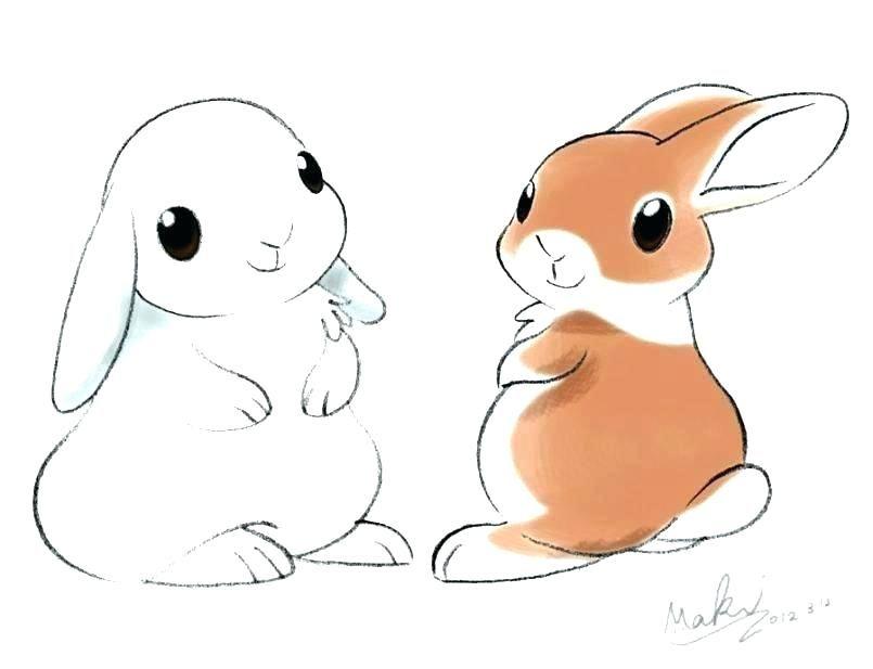 Easter Bunny Easy To Draw Thefrangipanitree Com Bunny Drawing Baby Cartoon Drawing Rabbit Drawing