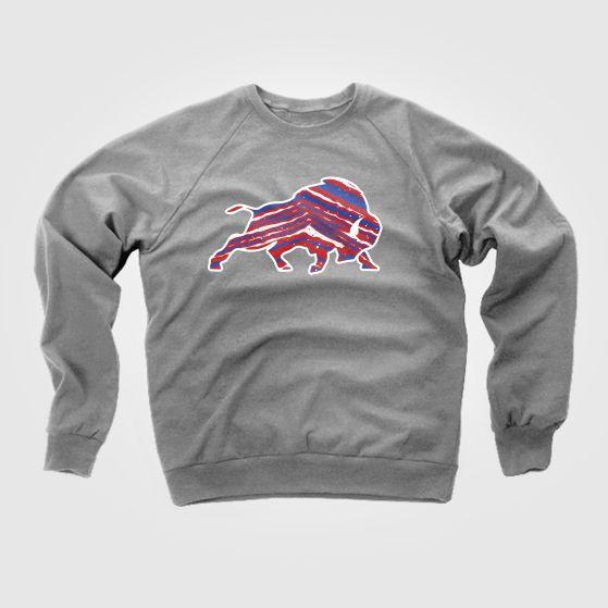 Buffalo Bills Zubaz Crewneck By Buffalo Made Co Long Sleeve Tshirt Men Apparel Buffalo