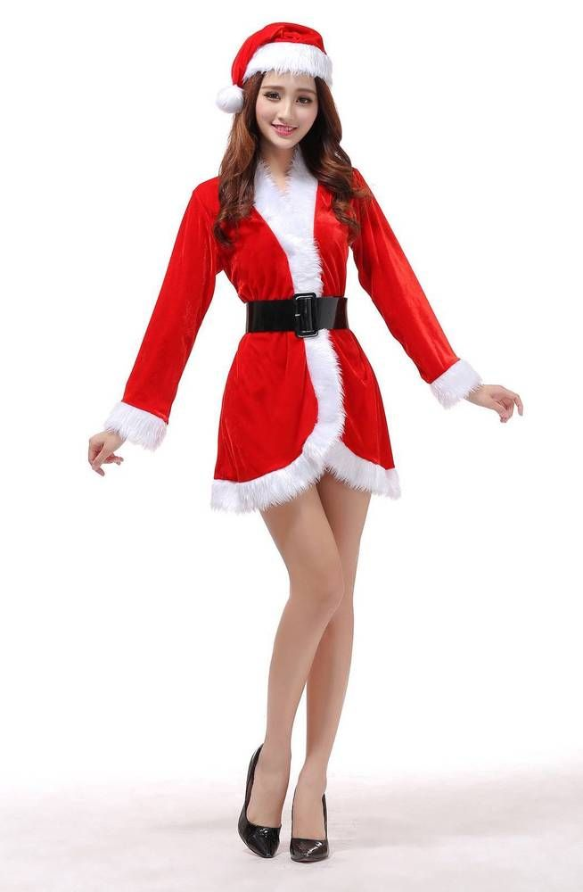 a782c655f56 Christmas Sexy Dress Outfits For Santa Claus Cosplay Costume XMAS Fancy  Party  Halloween  CostumesforWomen  CoolCostumes