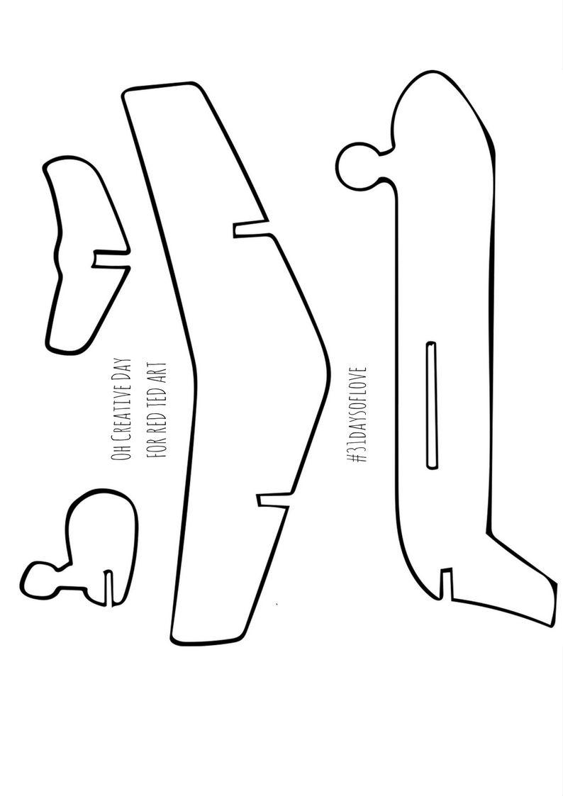 Oh Creative Day Jpg 794 1 123 Pixels Airplane Crafts Cardboard Airplane Airplane Print