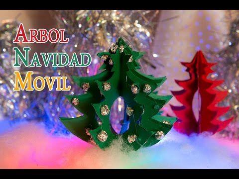 Arbol de Navidad Movil Para Decoracion o Centro Mesa - YouTube