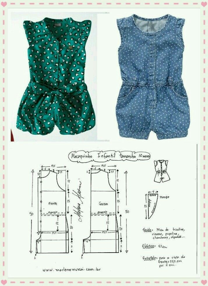 Pin by EGLITH on Patrones de costura | Pinterest | Sewing, Baby and ...