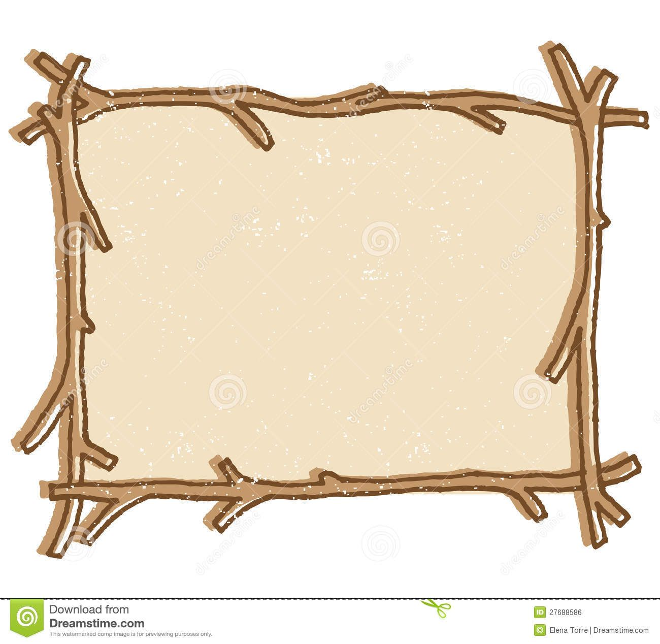 Free twig or branch borders clipart illustration of a twig stick free twig or branch borders clipart illustration of a twig stick frame isolated on a jeuxipadfo Choice Image