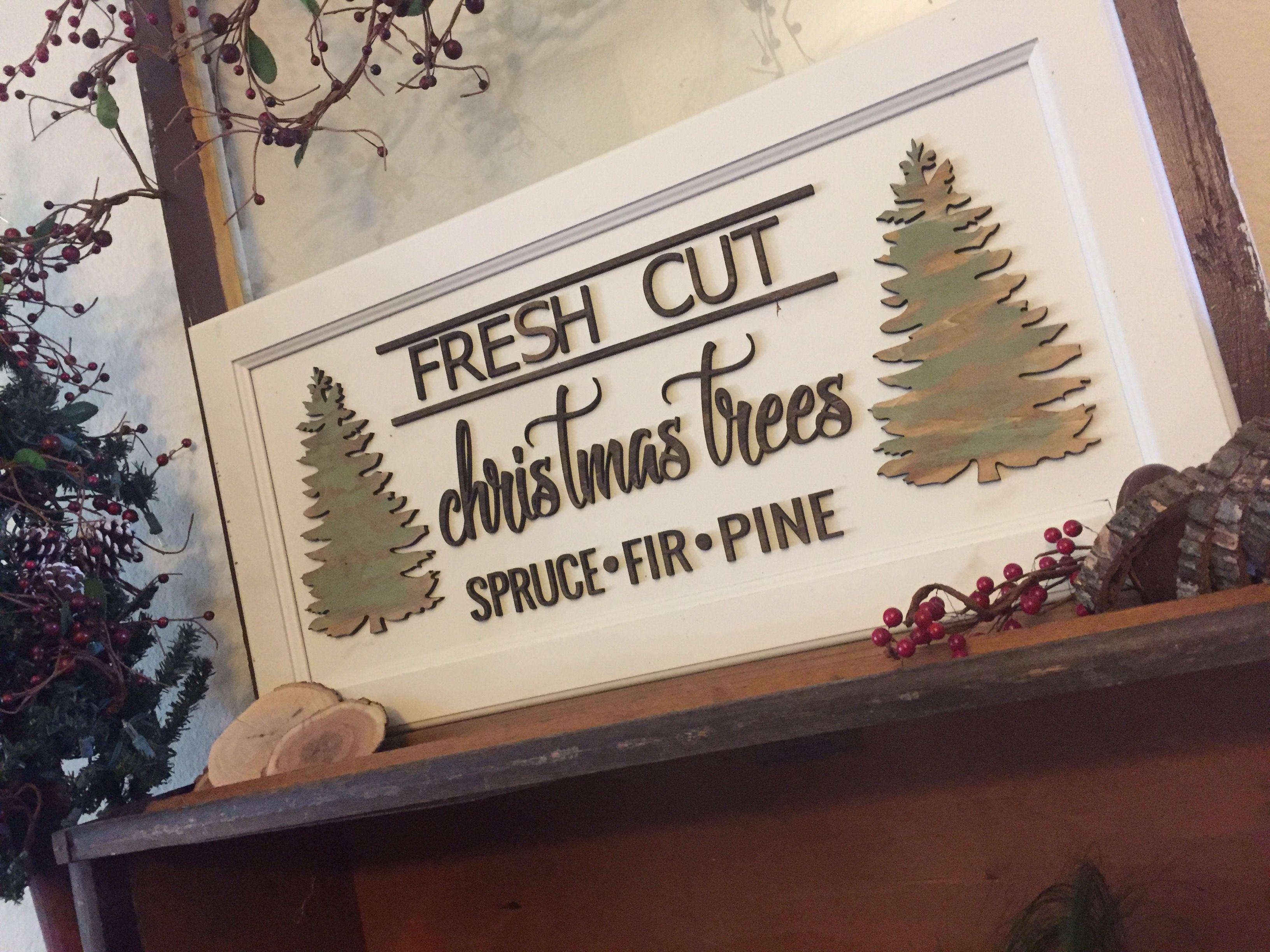 Fresh Cut Christmas Trees Sign.Fresh Cut Christmas Tree Sign Wood Words Christmas Ideas