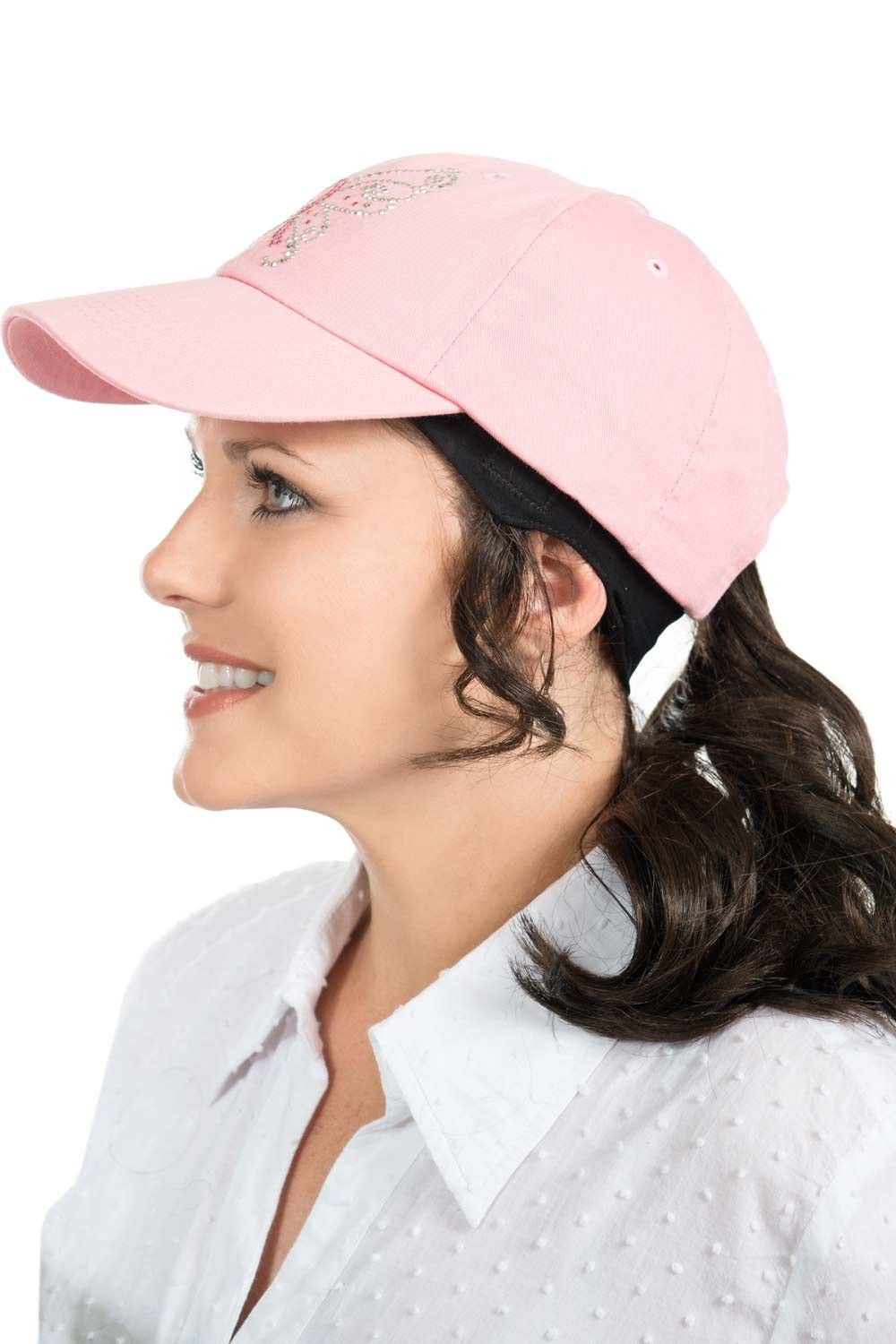 Ponytail Headband For Hats Baseball Cap With Hair By Cardani Baseball Cap Hairstyles Ponytail Hat Hairstyles