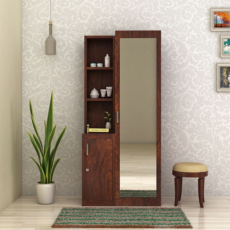Buy Sharon Dressing Table Walnut Finish Online In India Wooden Street Modern Dressing Table Designs Dressing Table Design Furniture Dressing Table