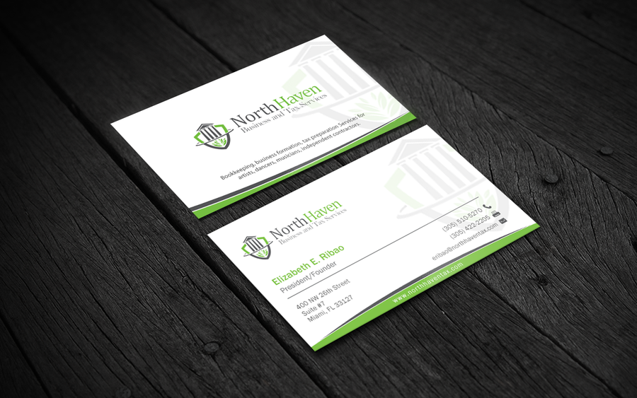 Create Business Card Design for Creative Tax Preparation/Bookkeeping ...