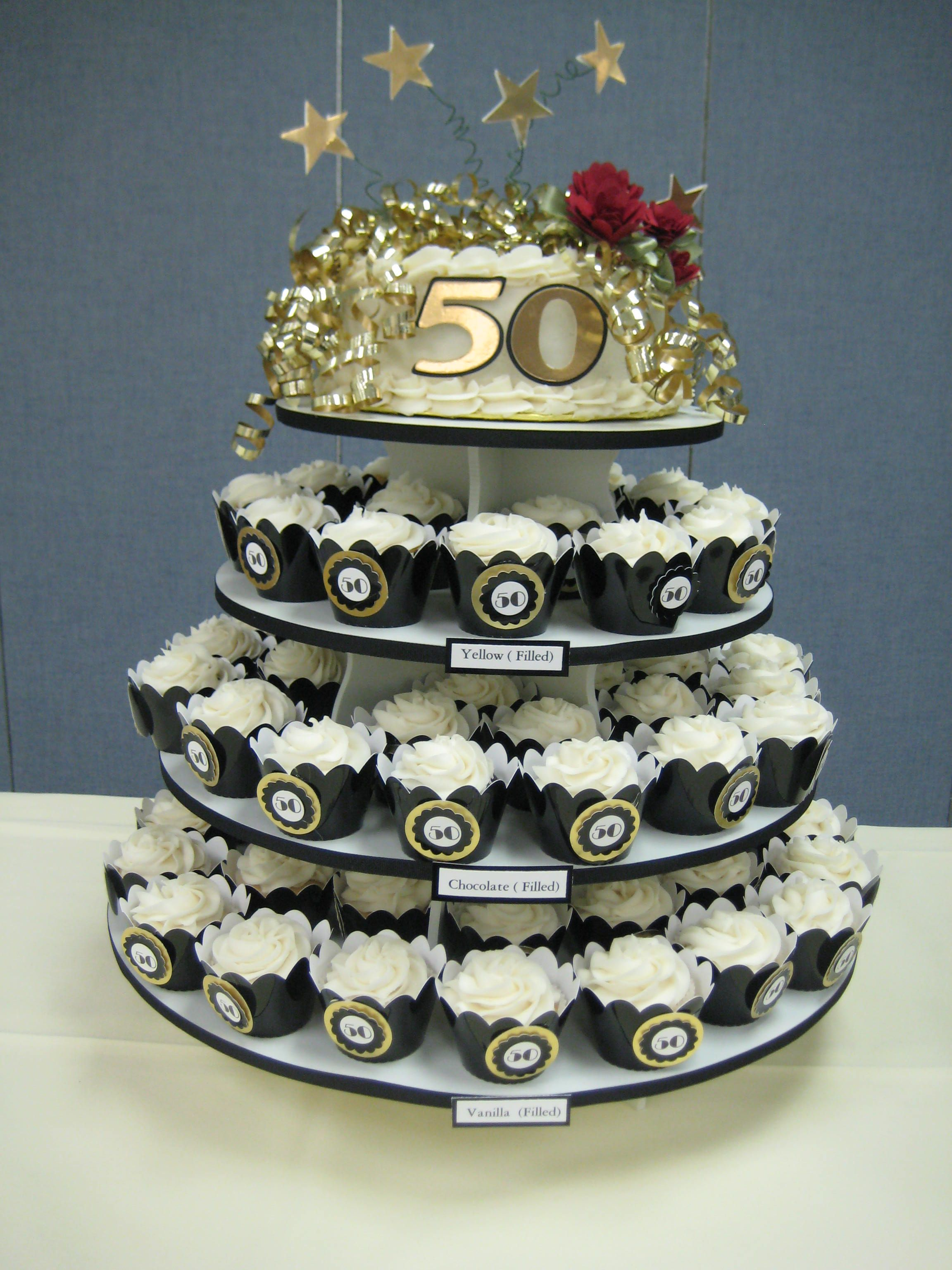 50th Anniversary Cupcake Decorations 50th Anniversary Cupcake Tower My Mini Cupcakes By Denise