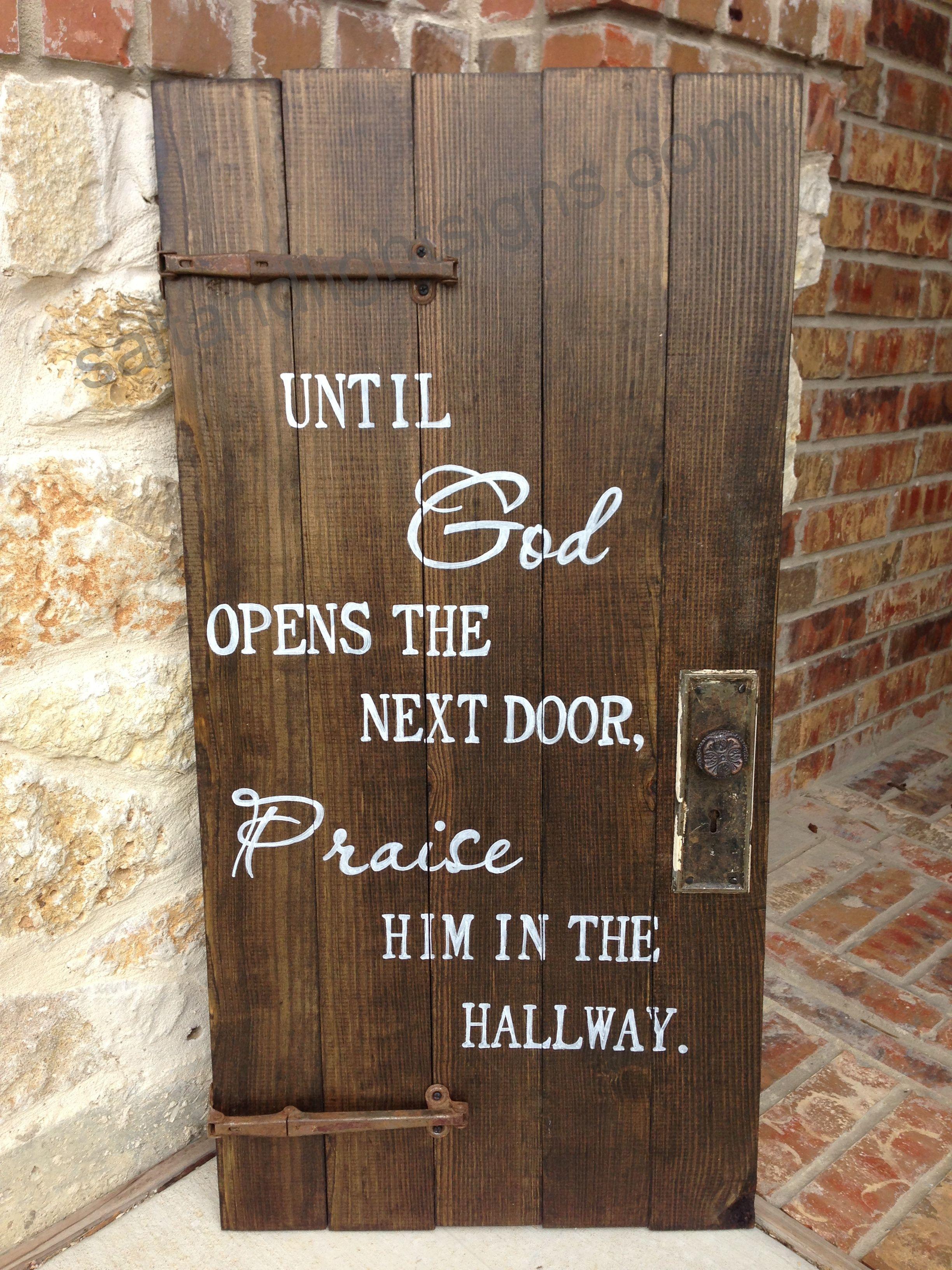 saltandlightsigns.com Wooden Christian God Sign Door Praise & saltandlightsigns.com Wooden Christian God Sign Door Praise ...