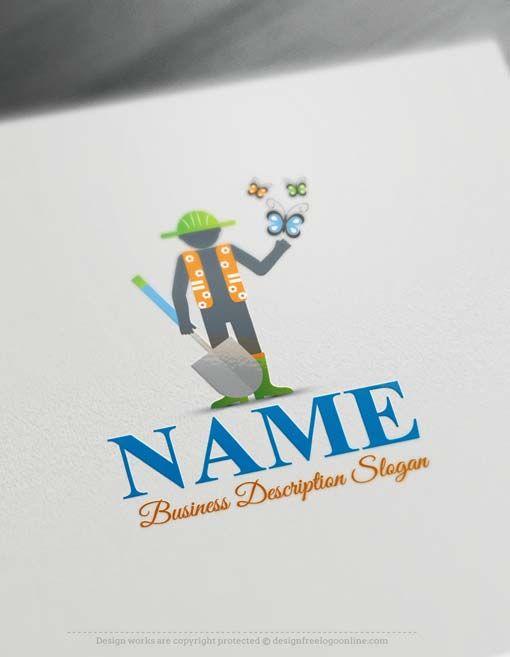 Create A Logo Free   Free Logo Maker   Gardening Logo Design Ready Made  Gardening Logo