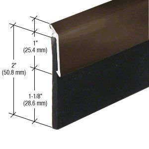 Crl Dark Bronze Anodized Heavy Duty Door Sweep 48 1219 Mm By Cr Laurence By Cr Laurence 44 10 Length 48 1219 Mm Thickness 1 1 8 28 6 Mm 60 Durom