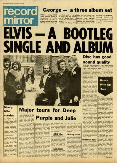 ELVIS PRESLEY Record Mirror - November 1970 (1970 22-page newspaper
