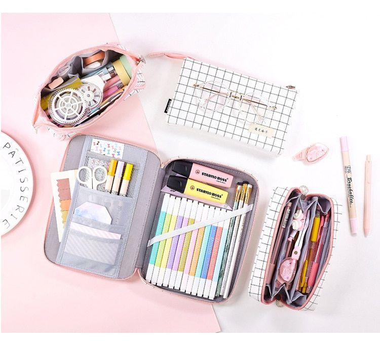 Aesthetic Check Pencil Cases in 2020   Pencil case, Pencil ...