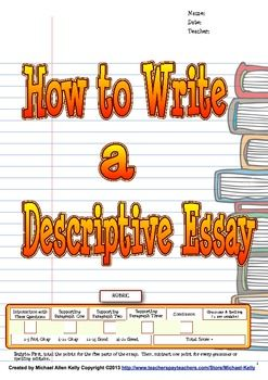 How To Write A Descriptive Essay WriterS Process  Michael