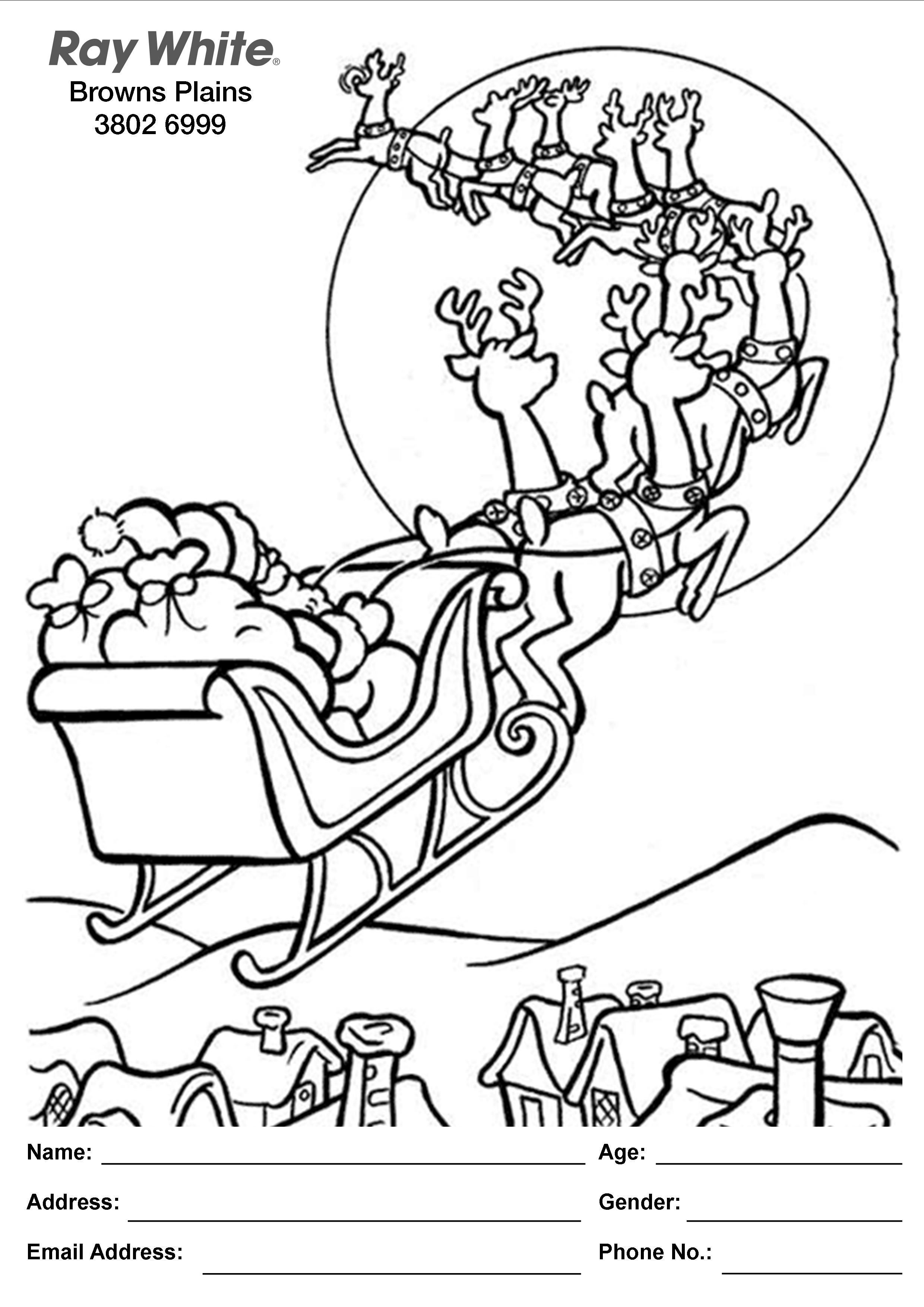 Coloring book real estate - Attention Kids Enter The Colouring In Competition For Your Chance To Win Some Extra Presents For Under Your Tree This Christmas