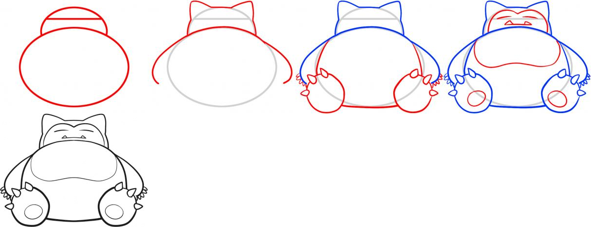 How to Draw Snorlax | How to make drawing, Pokemon ...