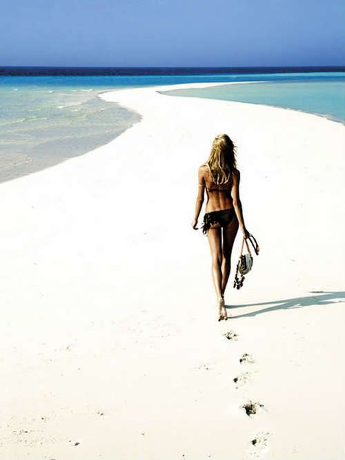 be my guiding star and leave behind your precious own footprints! White Sandy Beaches here we come!!