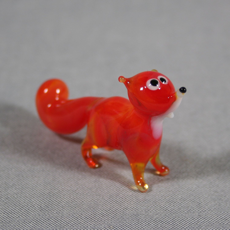 Fox Glass Figurine by MagicArtGlass on Etsy