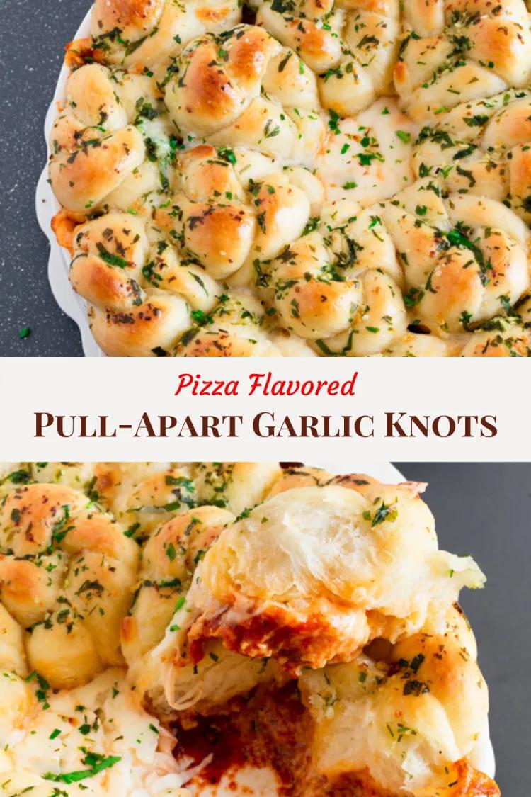 Pull Apart Garlic Knots Pizza Flavored Celebrating Flavors Recipe In 2020 Pizza Flavors Garlic Knots Seasoning Recipes