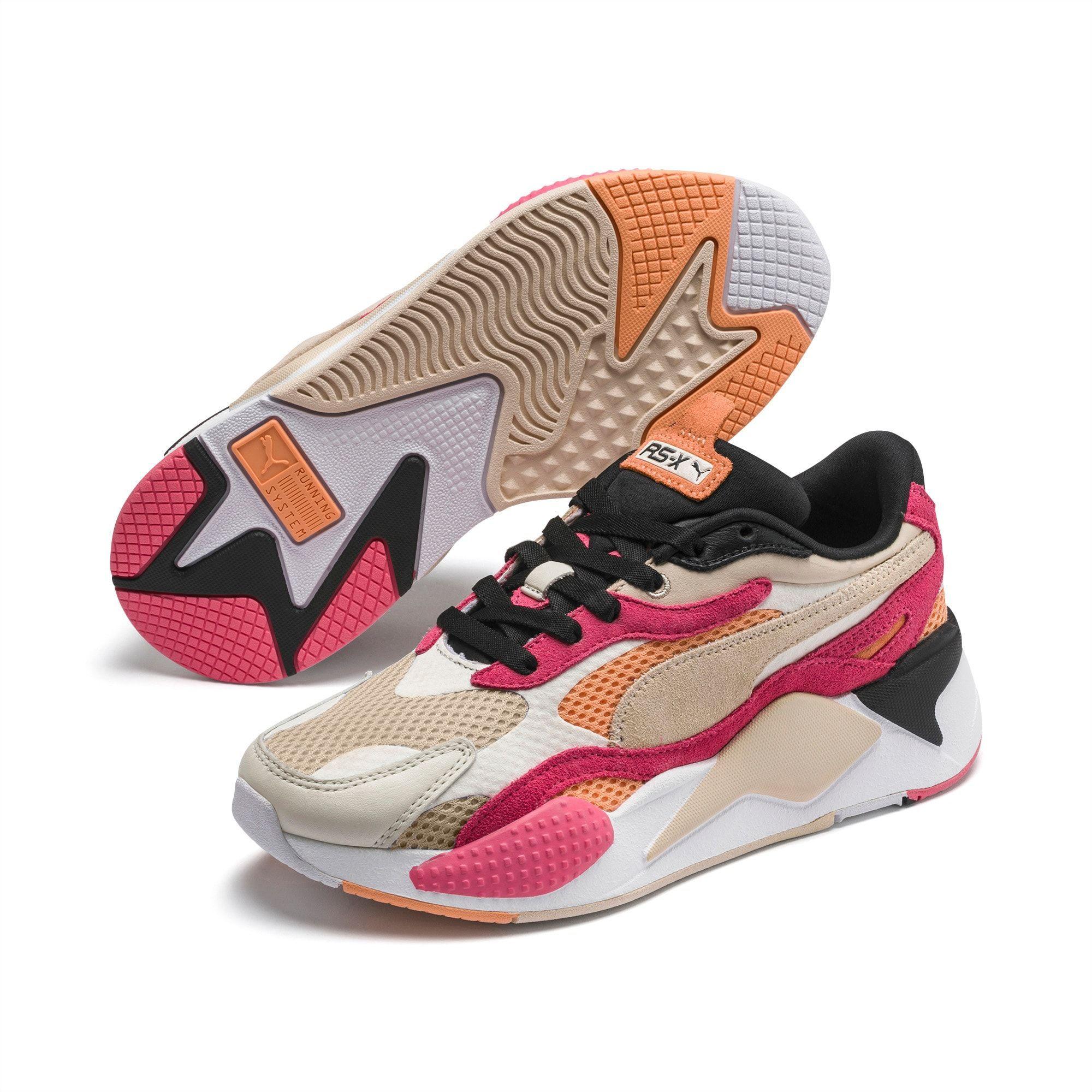 PUMA Rs-X3 Mesh Pop Women's Trainers, Marshmallow/Bubblegum, size ...