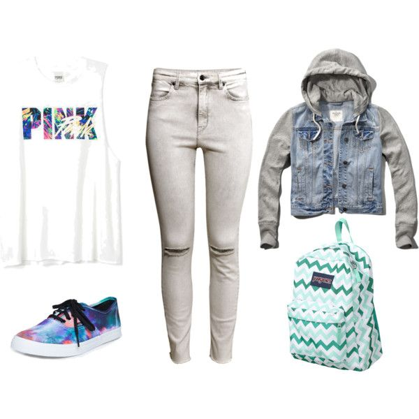 colors by karenvanessa1d on Polyvore featuring moda, Abercrombie & Fitch, H&M, Vans and JanSport