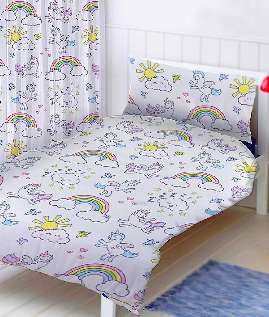 Lit De Licorne Situe Bed Set Reversible 135 X 200 Cm Fruugo Deco Maison Housse De Couette Maison