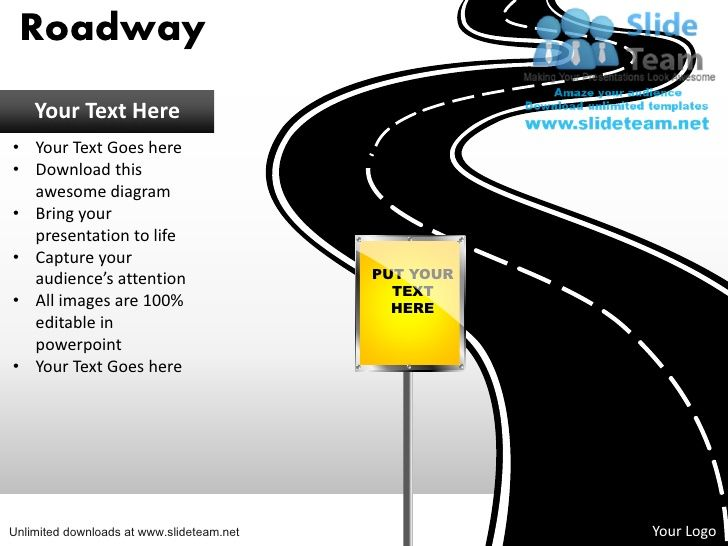 download editable road map power point slides and road map powerpoint u2026