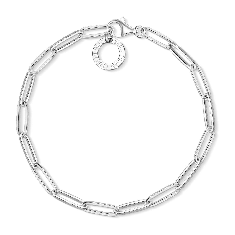 Thomas Sabo Sterling Silver Oval Link 17cm Charm Bracelet Fields Ie Thomas Sabo Silver Charm Bracelet Thomas Sabo Charms