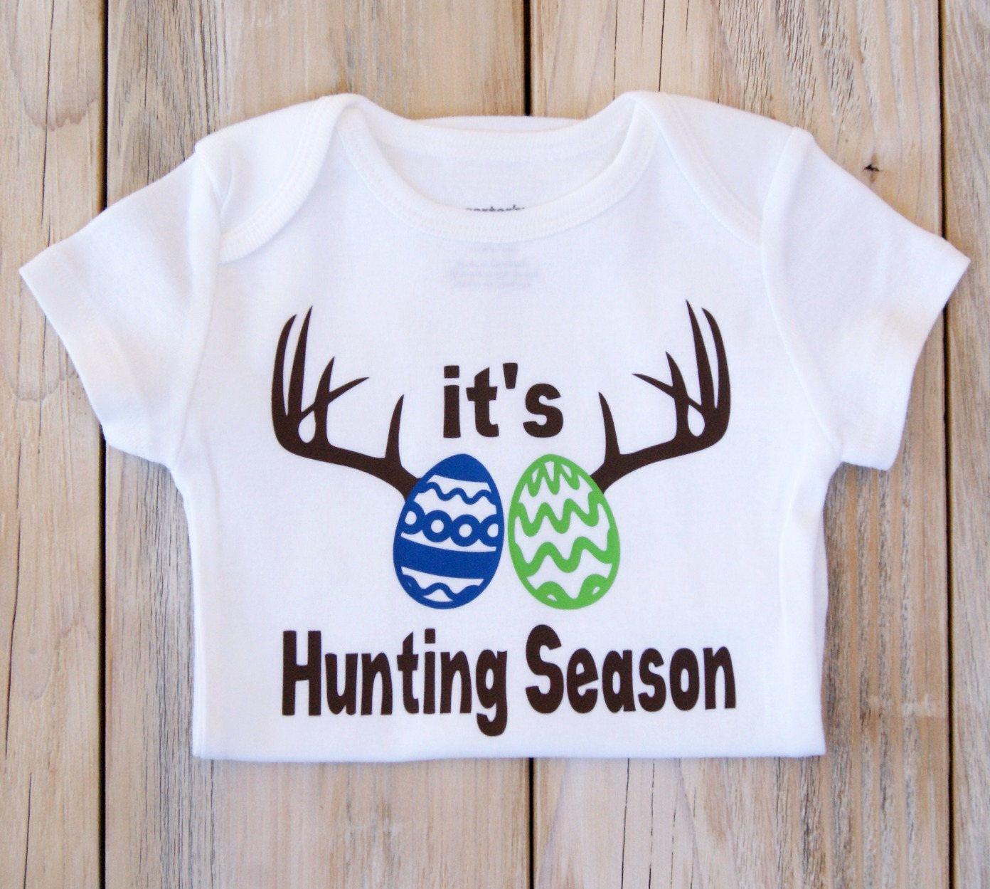 41335e844 It's Hunting Season-Easter-Easter Eggs-Eggs Hunting-Baby Girl or Boy Onesie-Baby-Baby  Clothes-Custom Onesie-Funny baby Onesie-Holiday by MyFayevoriteThings ...