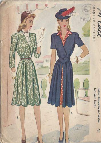 1942 Vintage Sewing Pattern B30\