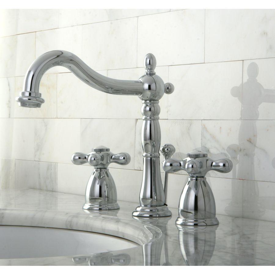 Shop Kingston Brass Heritage Chrome 2-Handle Widespread Bathroom ...