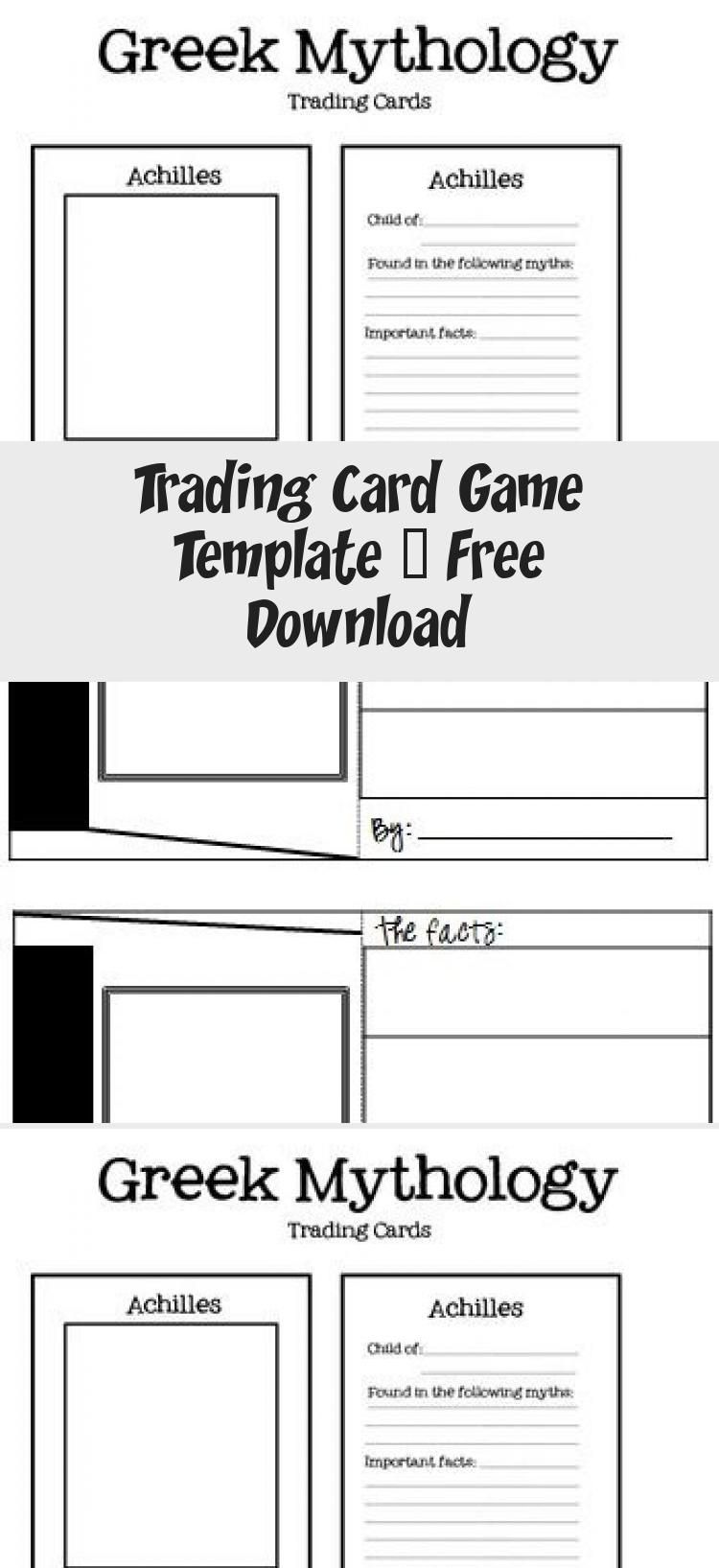 Trading Card Game Template Free Download Birthdaycardsonline Trading Cards Game Card Games Trading Card Template