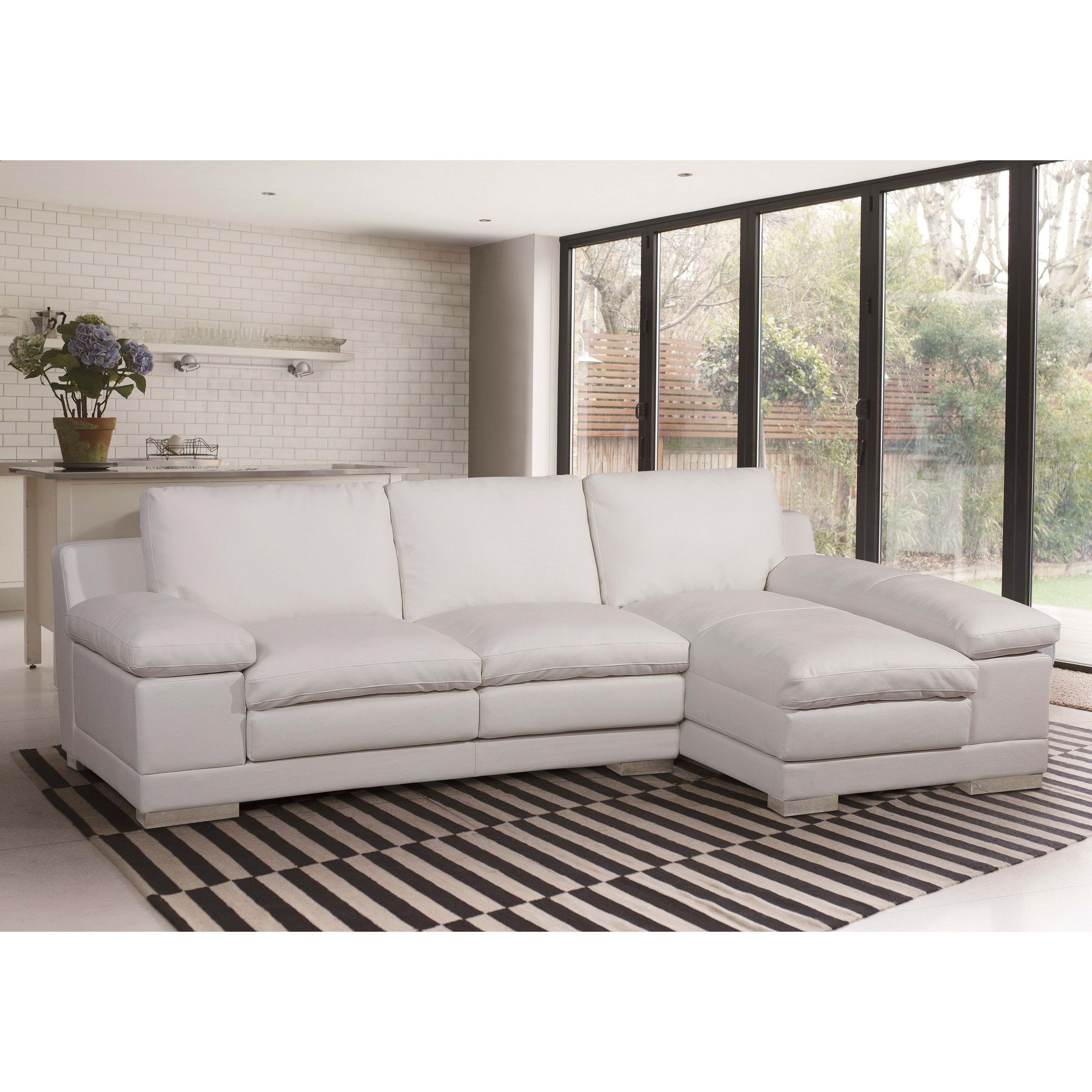 Us pride furniture adrian contemporary sectional sofa set leather