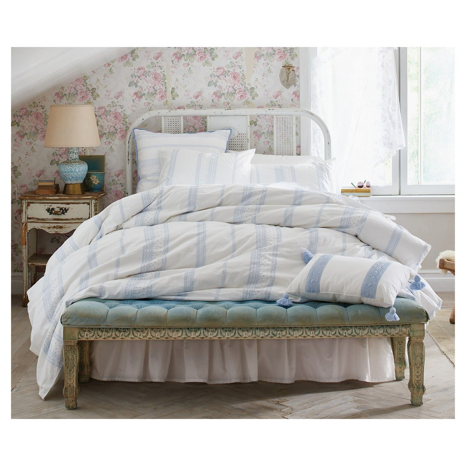 Simply Shabby Chic Bohemian Embroidered Duvet Cover Set Simply